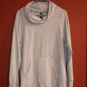 RBX Light Pink Heather Gray XL Cowlneck Sweatshirt